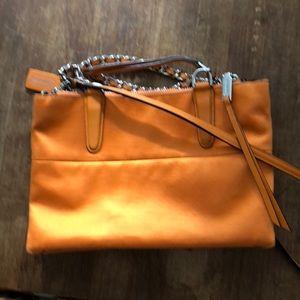 Adorable orange coach satchel shoulder bag